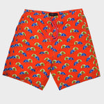 Beach Umbrella Swim Short in Red