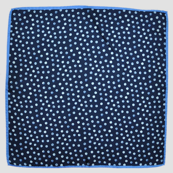 English Silk Dotty Jive Pocket Square