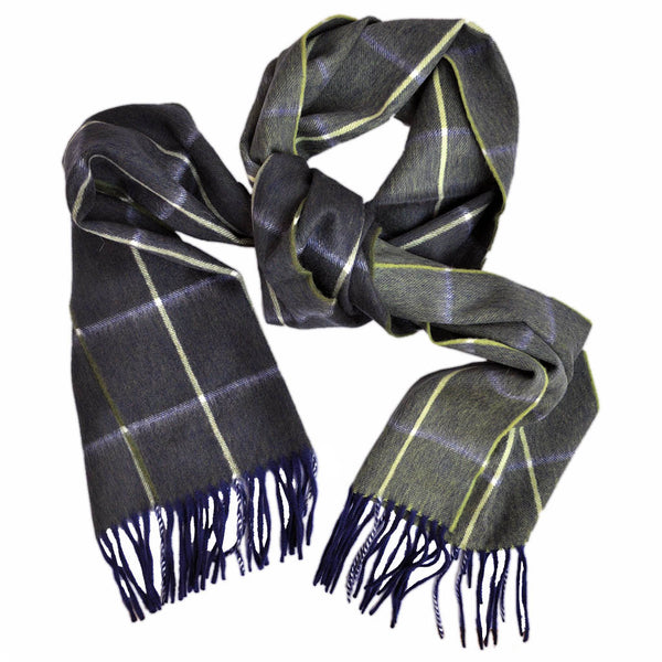 Wool Plaid and Colours Winter Scarf