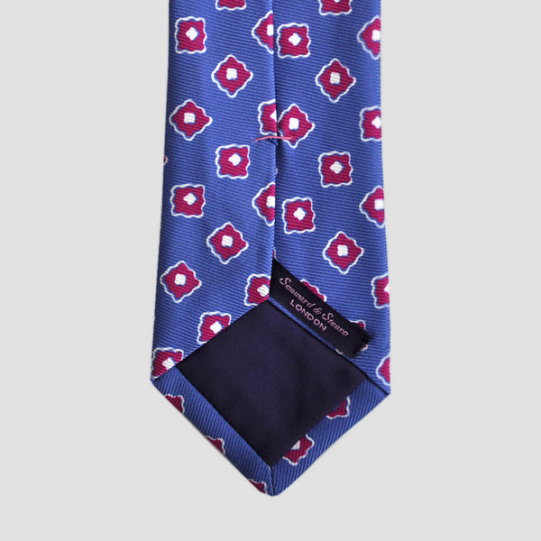 English Woven Silk Repeat Floret Tie