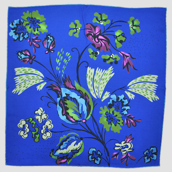 English Silk Spring Garden Pocket Square