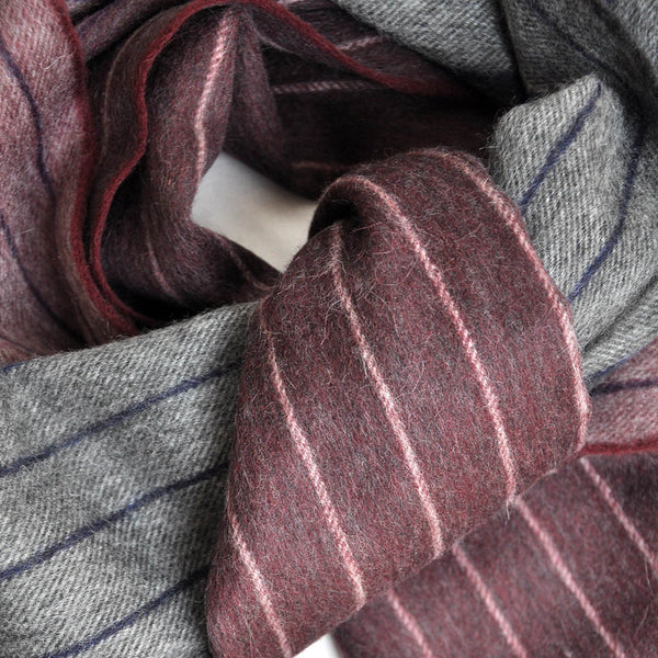 Wool Pin Stripe and Colours Winter Scarf