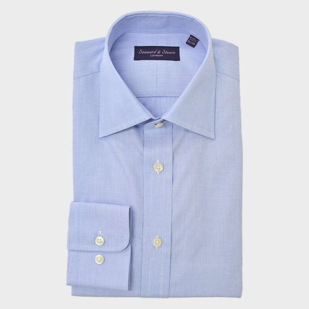 Classic Collar City Blue Cotton Shirt