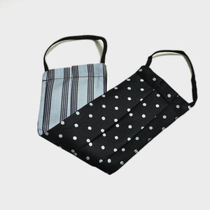 Classic Polka Dot Face Cover in Midnight Blue