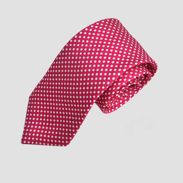 English Silk Dotty Summer Tie