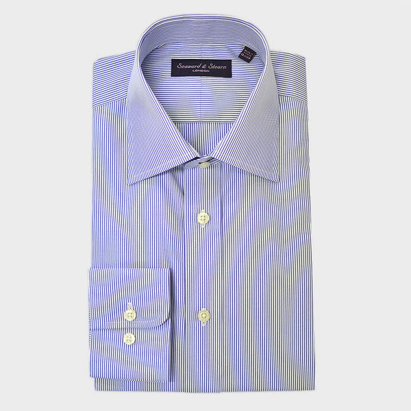Classic Collar City Stripe Cotton Shirt
