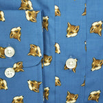 Foxy Button Down Cotton Shirt in Blue