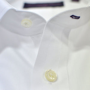 Classic Collar City White Double Cuff Cotton Shirt