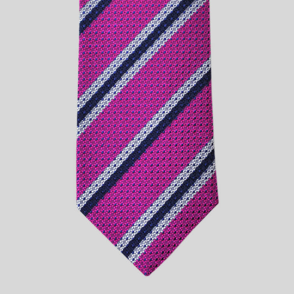 English Textured Silk Stripe Tie
