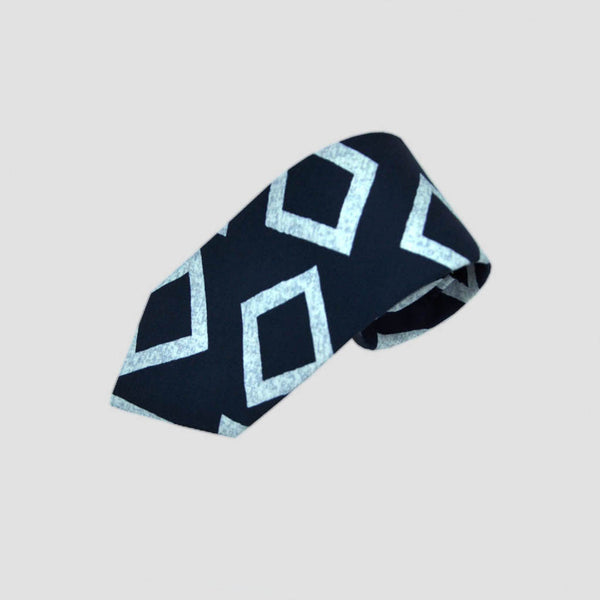 English Silk Groovy Square Print Tie