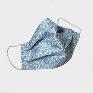 Teardrop Silk Face Cover in Light Blue