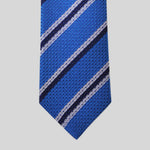 Royal Blue Stripe Grenadine Tie