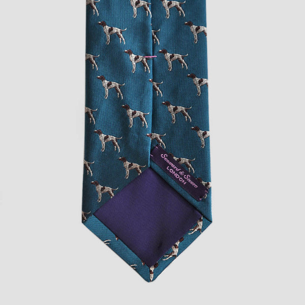 English Woven Silk Pointer Tie