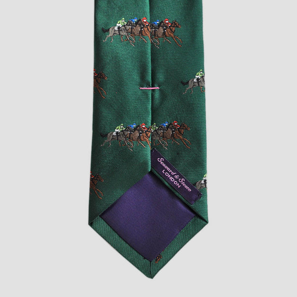 English Woven Silk At The Races Tie