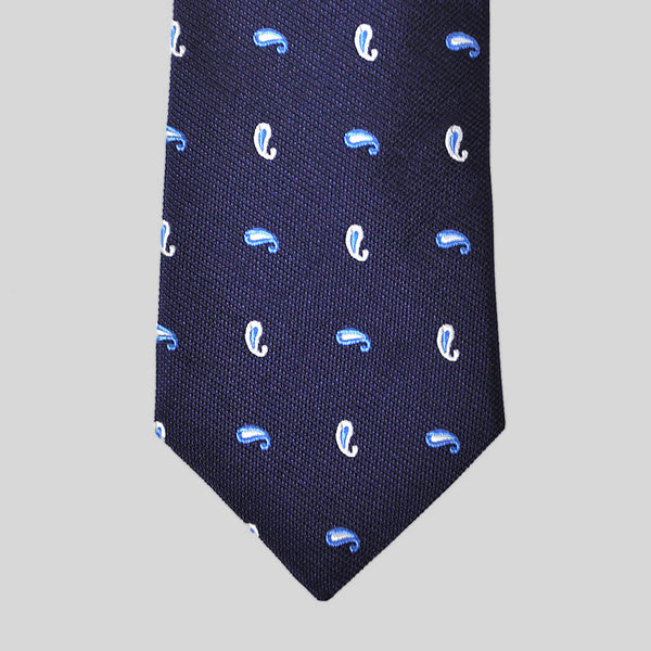 English Woven Silk Gentle Teardops Tie