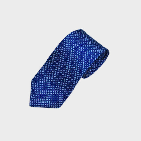 Royal Blue Elegant Floret Silk Tie