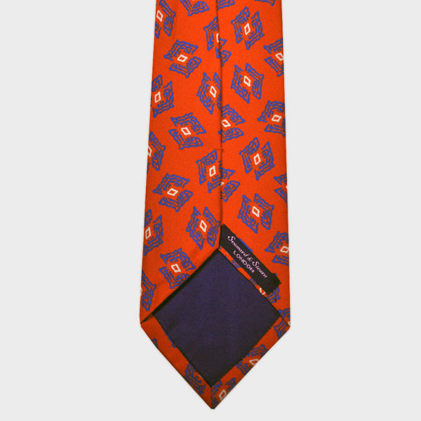 Animated Florets Silk Tie in Red
