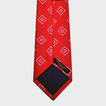 Diamond Geo Repeat Reppe Silk Tie in Red