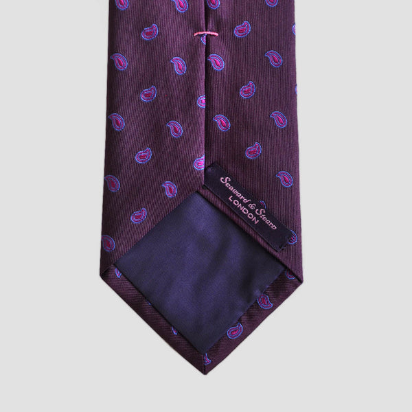 English Woven Silk Joyful Teardrops Tie
