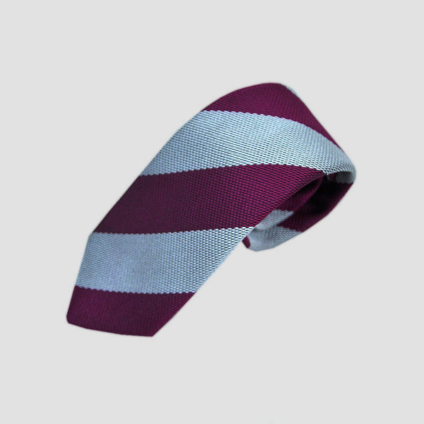 English Woven Silk Bold Stripes Tie