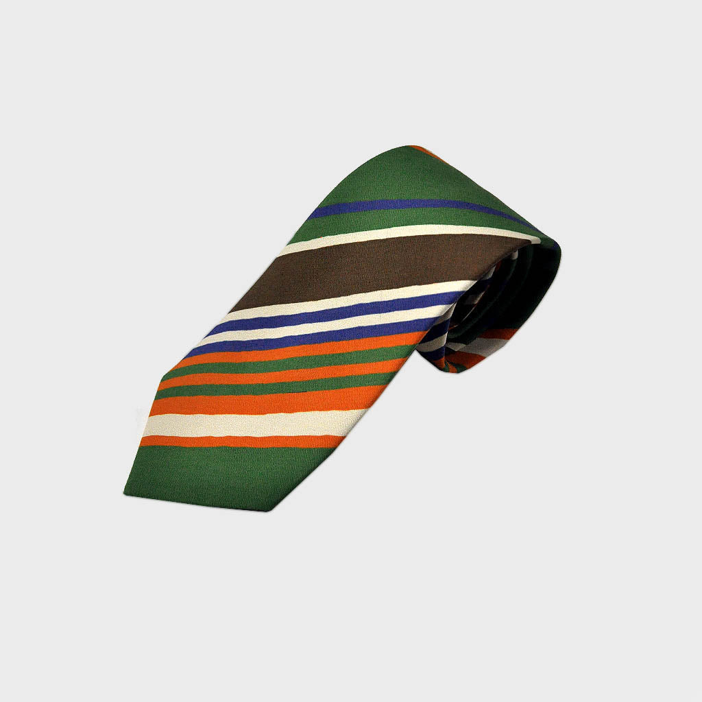 Brushed Stripes Silk Tie in Technicolor!