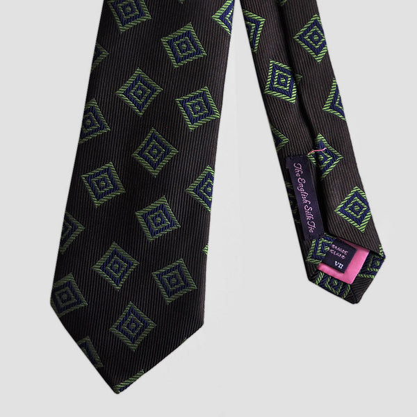 English Woven Silk Geometric Diamonds Tie