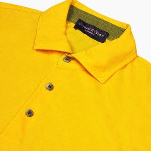 Super Fine Cotton Polo Shirt in Sunset Yellow