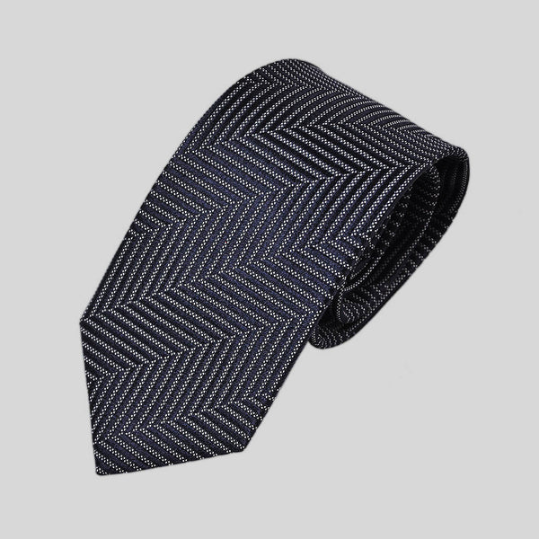 English Woven Silk Chevrons Tie