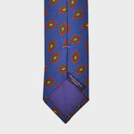 Diamond Florets Bottle Neck Silk Tie in Blue