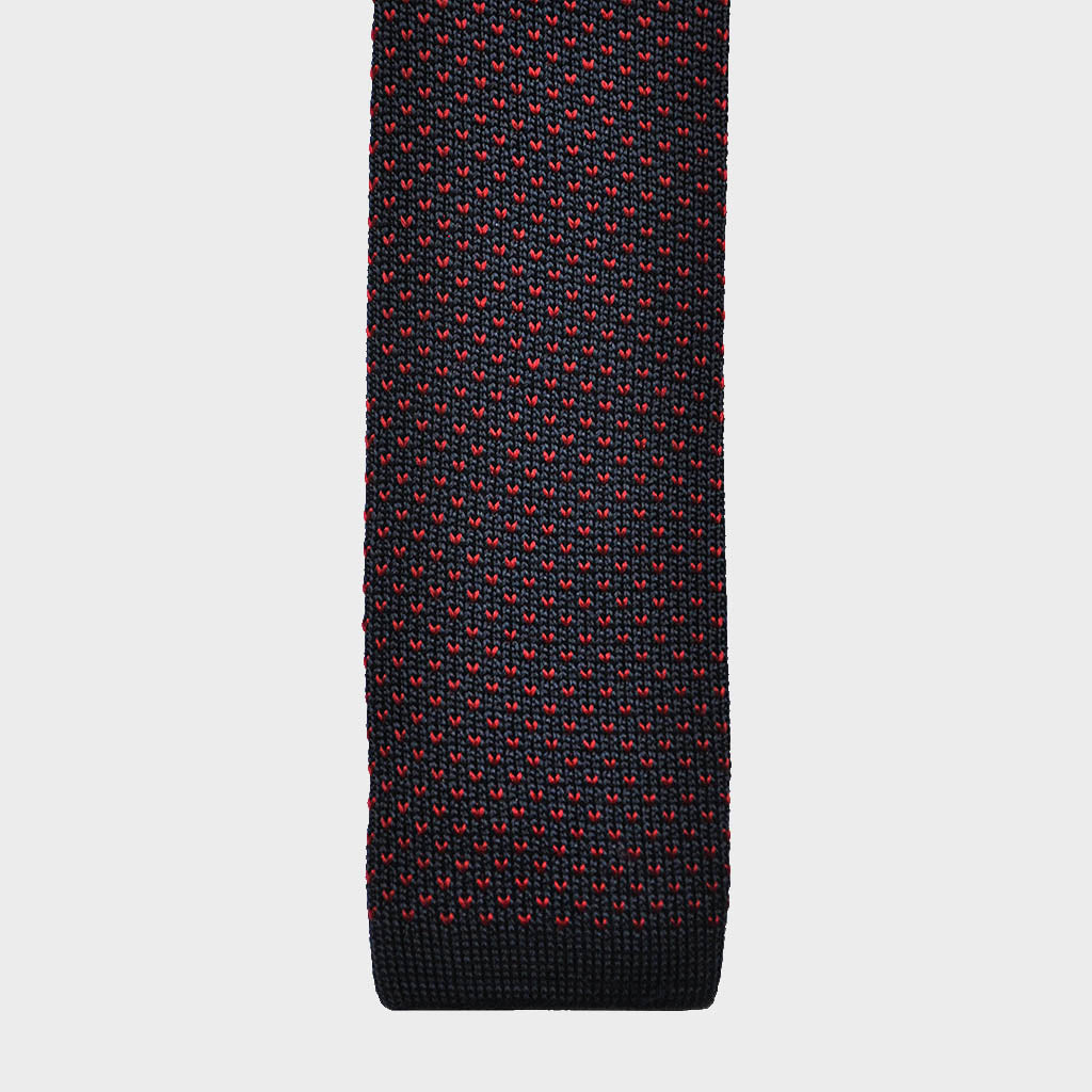 Funky Speckle Silk Knitted Tie