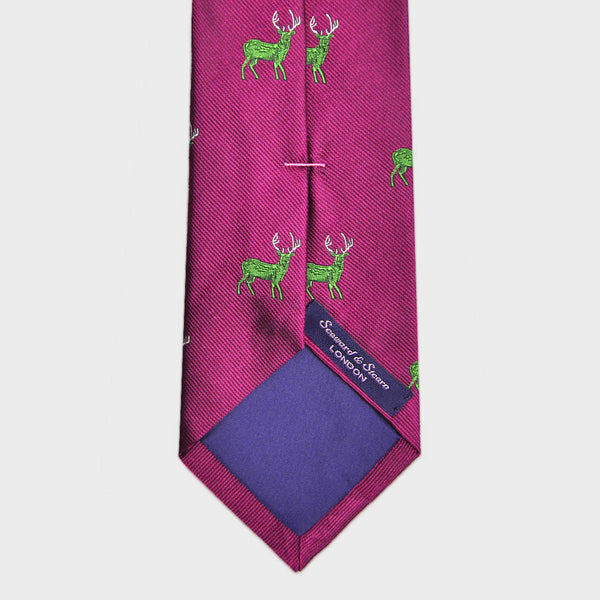 English Woven Silk Stag Tie