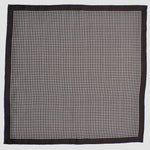 English Silk Classic Dots Pocket Square in Brown