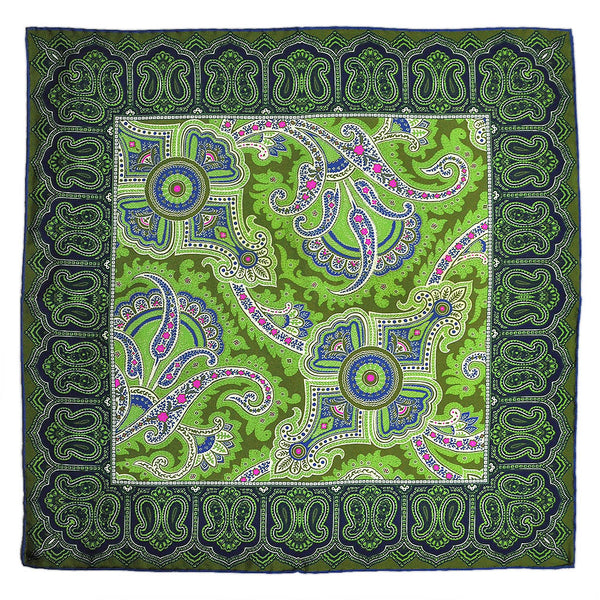 English Silk Stunning Paisley Pocket Square