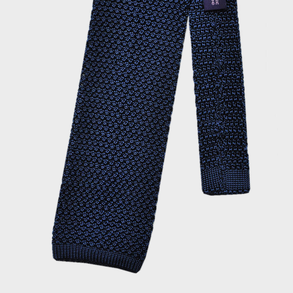 Rich Blue Silk Knitted Tie