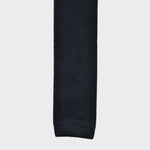 Grey Blue Silk Knitted Tie