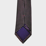 Claret with White Dots Woven Silk Tie