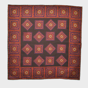 English Silk Groovy Aztec Pocket Square