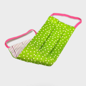 Ladies Silk Face Cover Dots in Lime