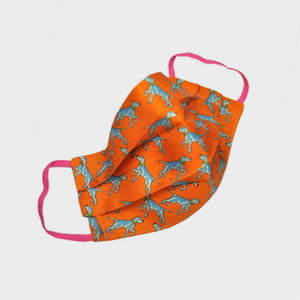 Ladies Pointer Silk Face Cover in Orange