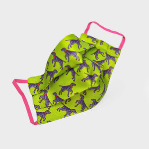 Ladies Pointer Silk Face Cover in Lime
