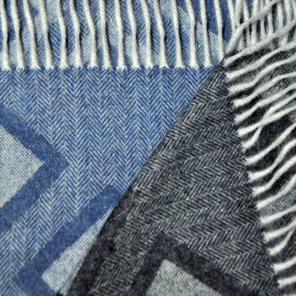 Herring Bone and Geo's Wool Winter Scarf