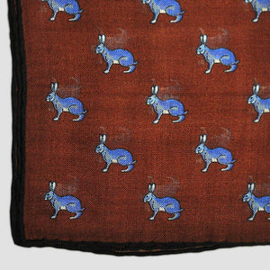 Blue Hare Wool Pocket Square