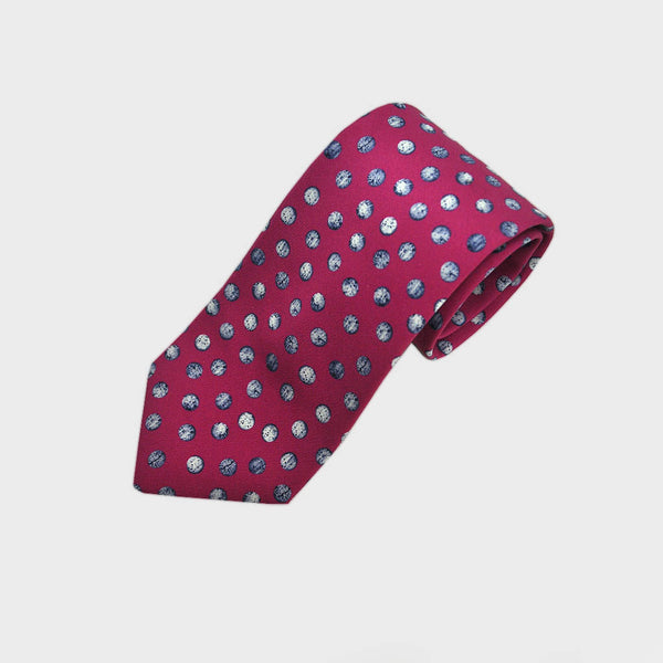 English Silk Dotty Speckle Tie