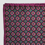 Reversible Repeats Pocket Square in Pink & Blue