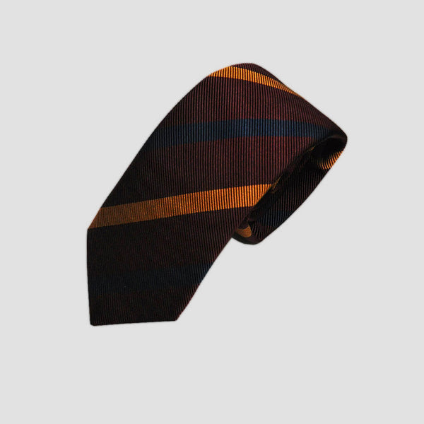 English Silk Warm Stripes Tie