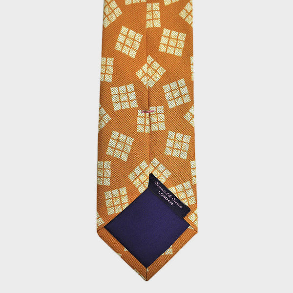 Cool Geometric Textured Silk Tie