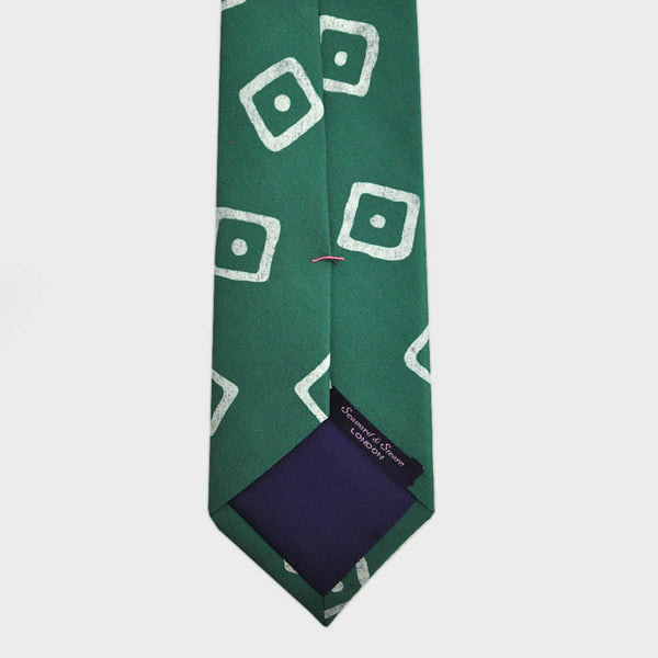 English Silk Dot the Square Print Tie