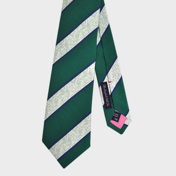Cool Green Stripes Printed Silk Tie