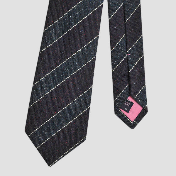 Dashing Stripes Wool and Silk Tie