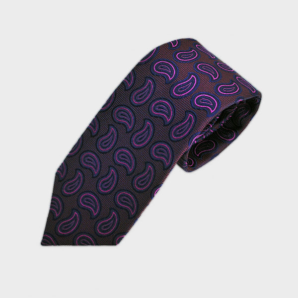 Dashing Teardrops Woven Silk Tie